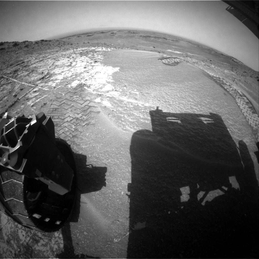 NASA's Mars rover Curiosity acquired this image using its Rear Hazard Avoidance Cameras (Rear Hazcams) on Sol 941
