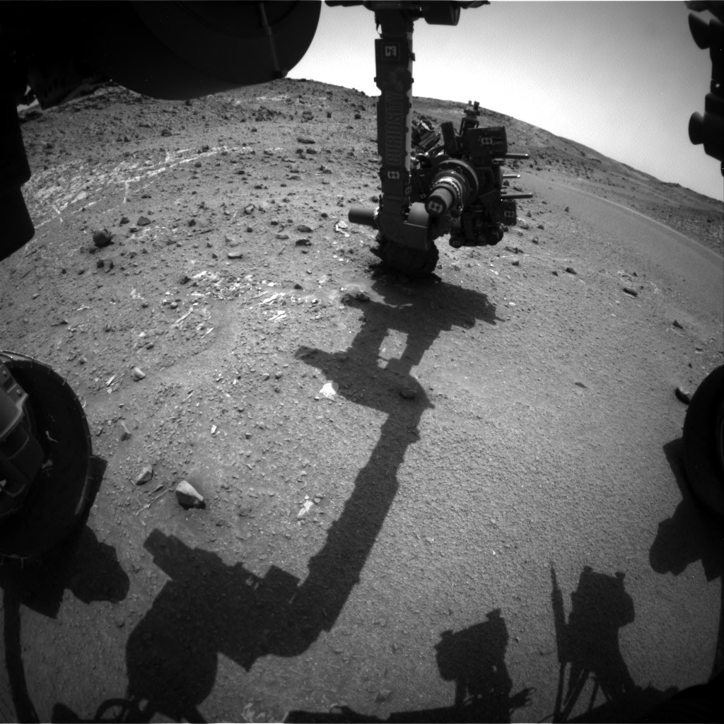 Nasa's Mars rover Curiosity acquired this image using its Front Hazard Avoidance Camera (Front Hazcam) on Sol 942, at drive 996, site number 45