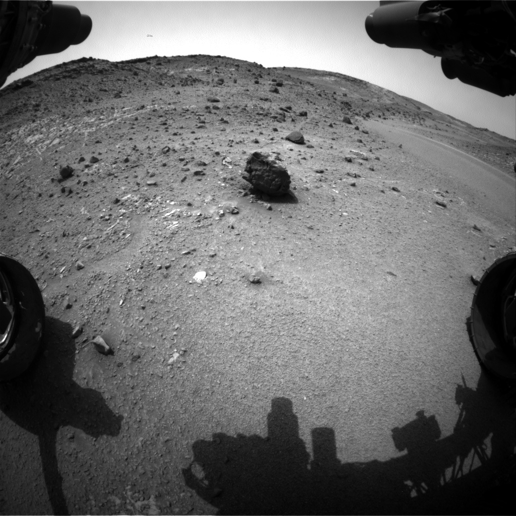 Nasa's Mars rover Curiosity acquired this image using its Front Hazard Avoidance Camera (Front Hazcam) on Sol 943, at drive 996, site number 45