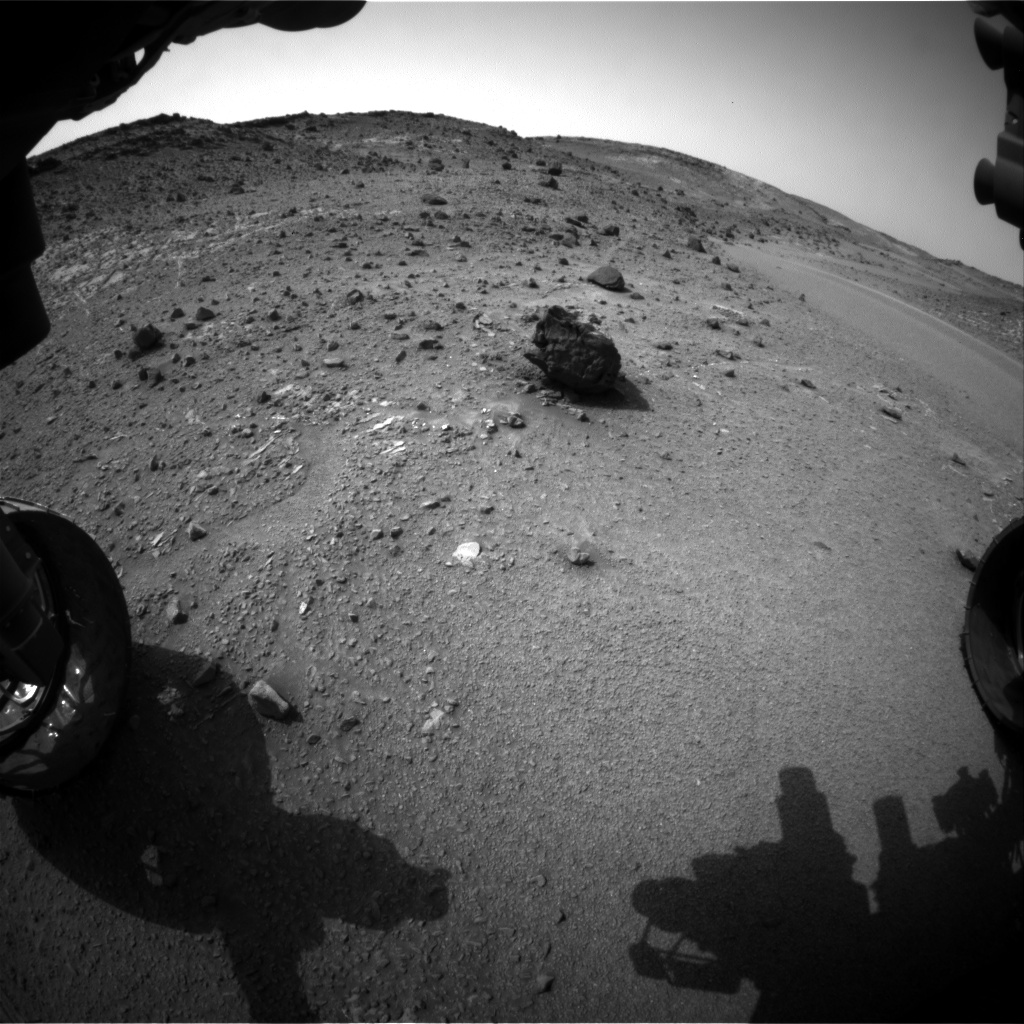Nasa's Mars rover Curiosity acquired this image using its Front Hazard Avoidance Camera (Front Hazcam) on Sol 944, at drive 996, site number 45