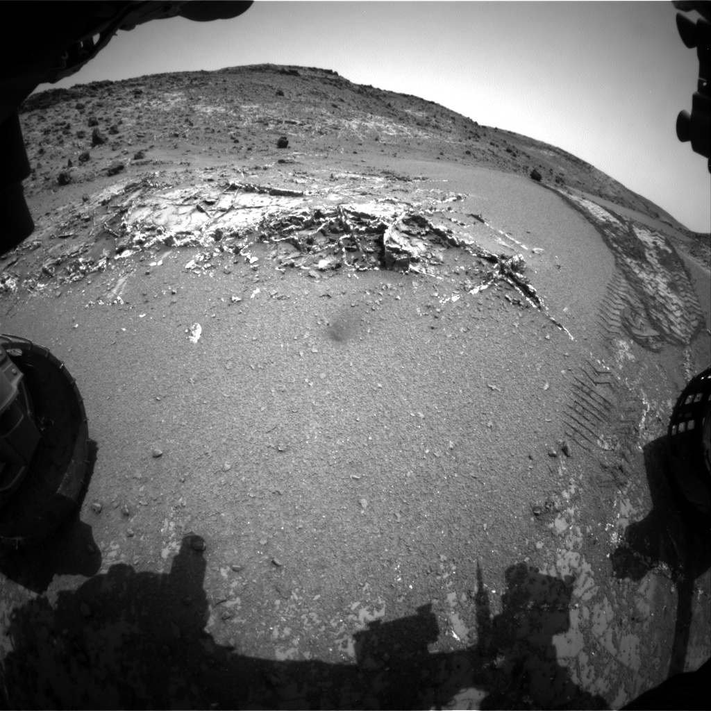 Nasa's Mars rover Curiosity acquired this image using its Front Hazard Avoidance Camera (Front Hazcam) on Sol 944, at drive 1108, site number 45