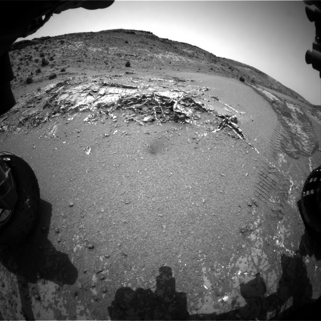 Nasa's Mars rover Curiosity acquired this image using its Front Hazard Avoidance Camera (Front Hazcam) on Sol 946, at drive 1108, site number 45