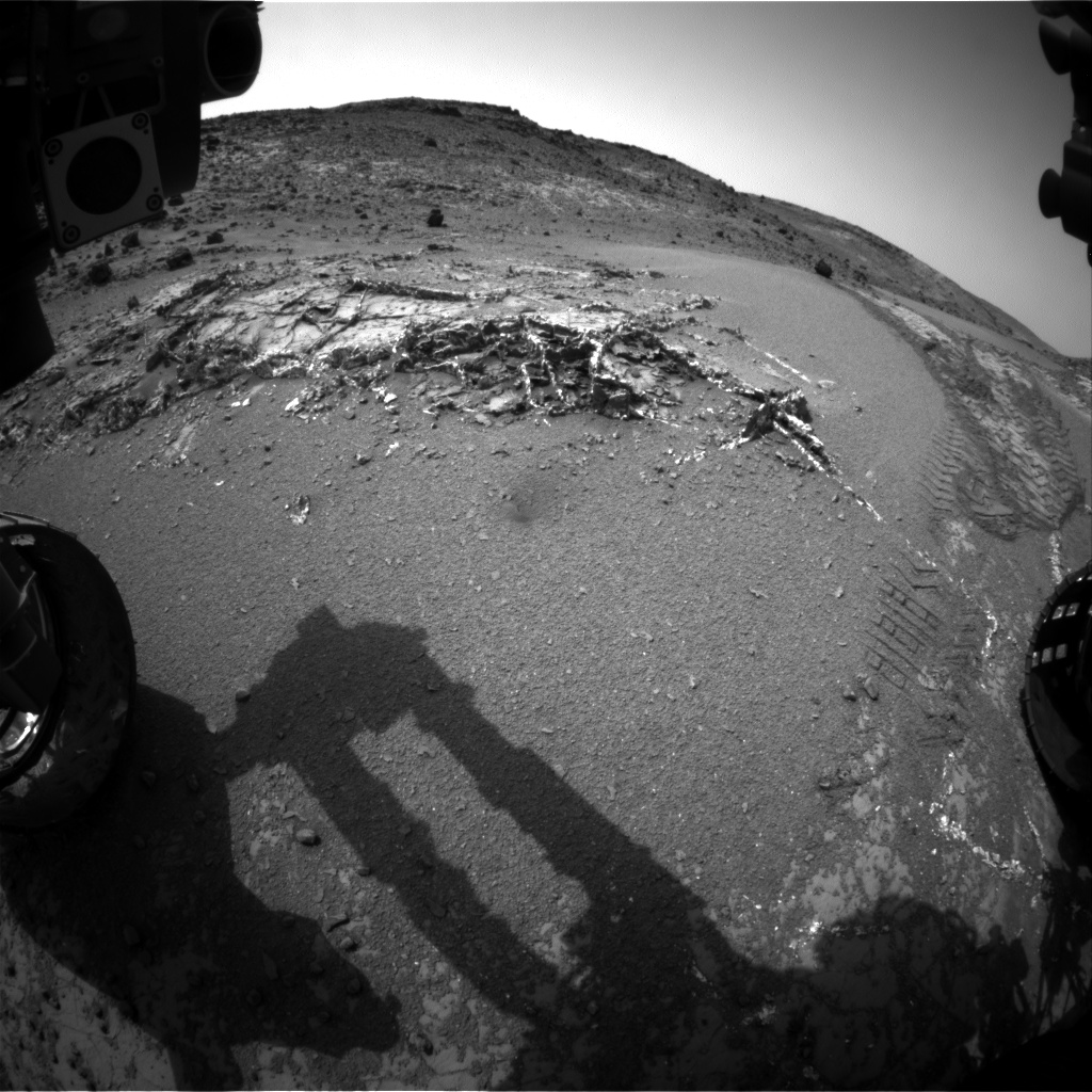 Nasa's Mars rover Curiosity acquired this image using its Front Hazard Avoidance Camera (Front Hazcam) on Sol 947, at drive 1108, site number 45