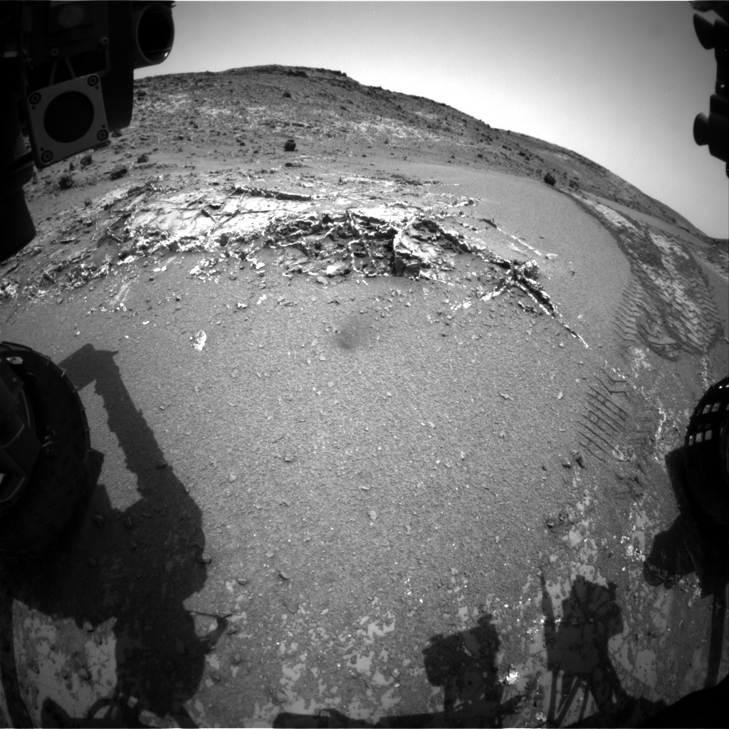 Nasa's Mars rover Curiosity acquired this image using its Front Hazard Avoidance Camera (Front Hazcam) on Sol 948, at drive 1108, site number 45