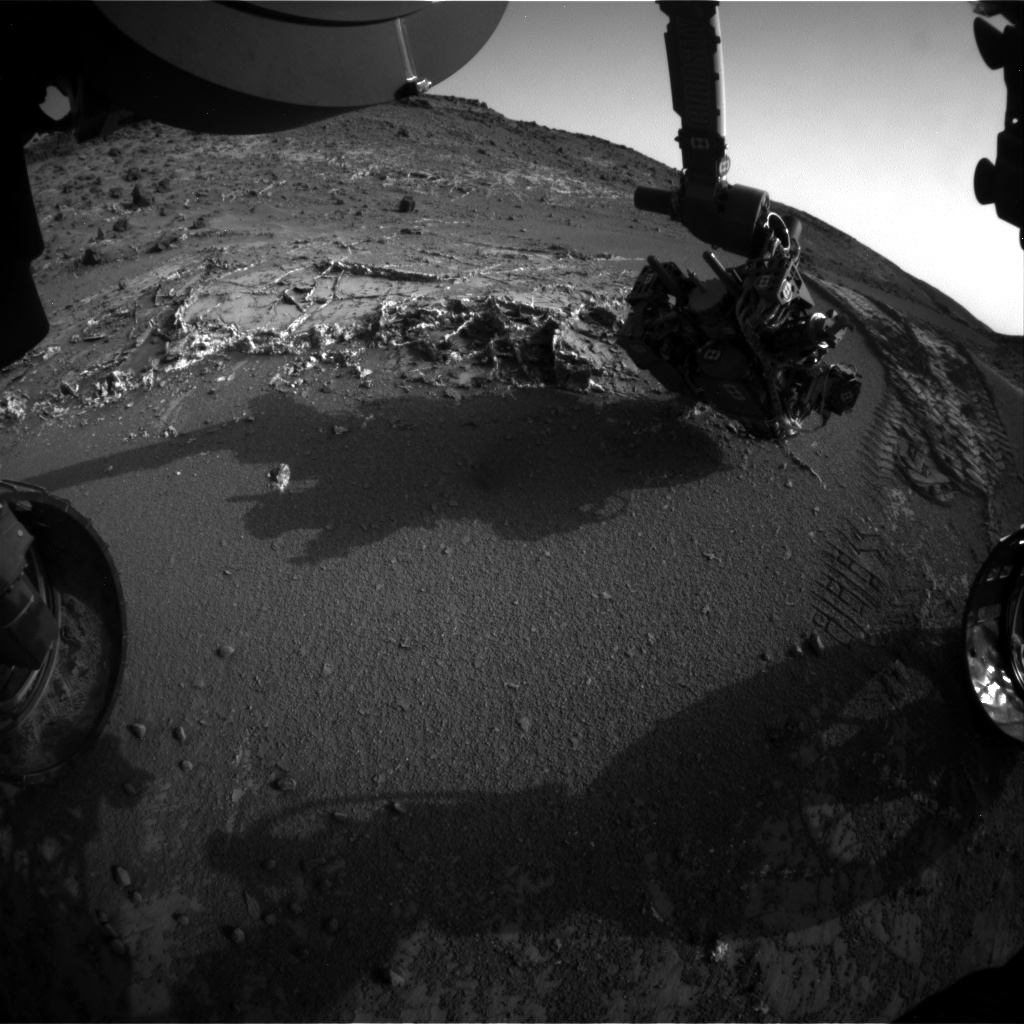NASA's Mars rover Curiosity acquired this image using its Front Hazard Avoidance Cameras (Front Hazcams) on Sol 948