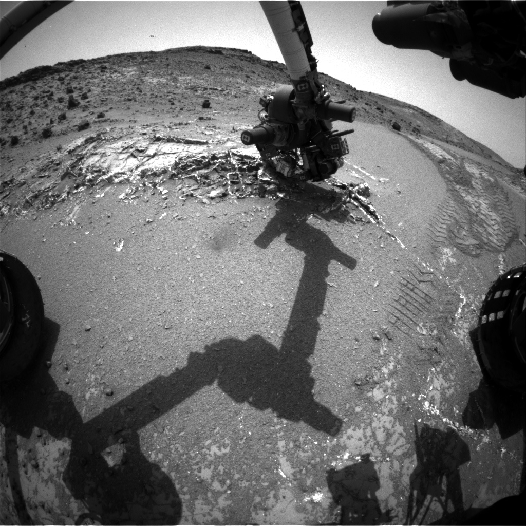 Nasa's Mars rover Curiosity acquired this image using its Front Hazard Avoidance Camera (Front Hazcam) on Sol 949, at drive 1108, site number 45