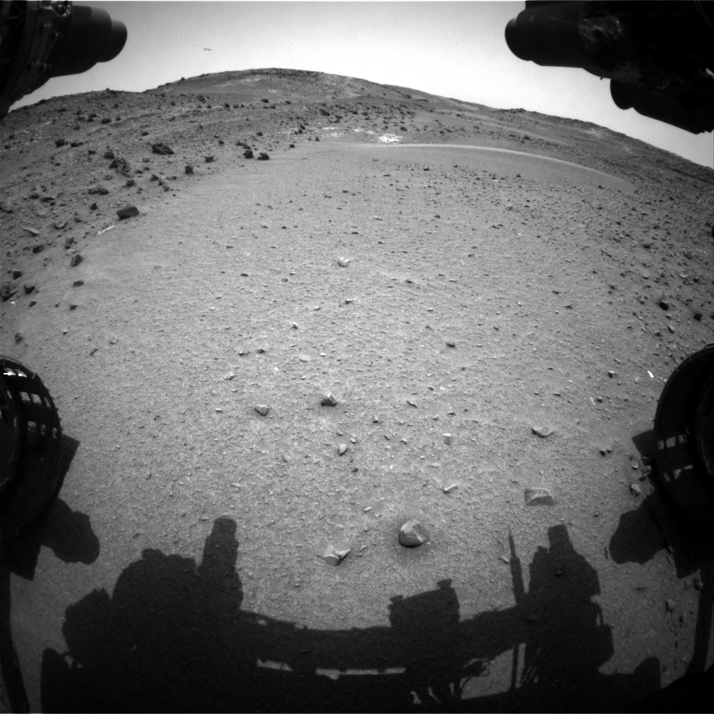 Nasa's Mars rover Curiosity acquired this image using its Front Hazard Avoidance Camera (Front Hazcam) on Sol 949, at drive 1276, site number 45