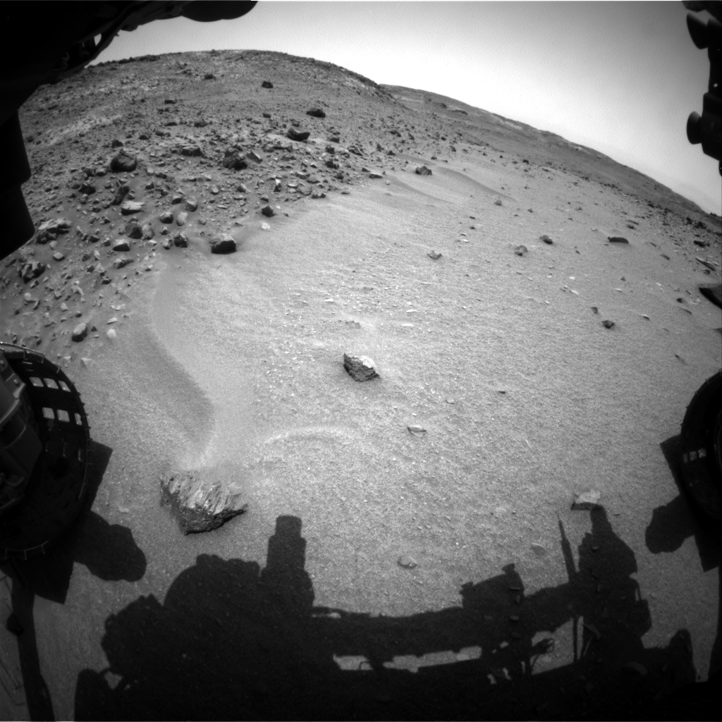 Nasa's Mars rover Curiosity acquired this image using its Front Hazard Avoidance Camera (Front Hazcam) on Sol 950, at drive 1558, site number 45