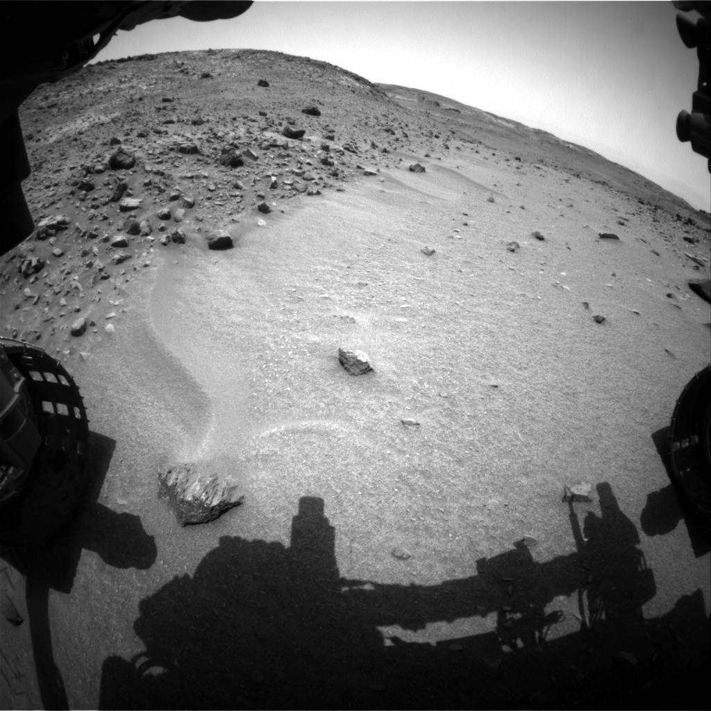 Nasa's Mars rover Curiosity acquired this image using its Front Hazard Avoidance Camera (Front Hazcam) on Sol 951, at drive 1558, site number 45