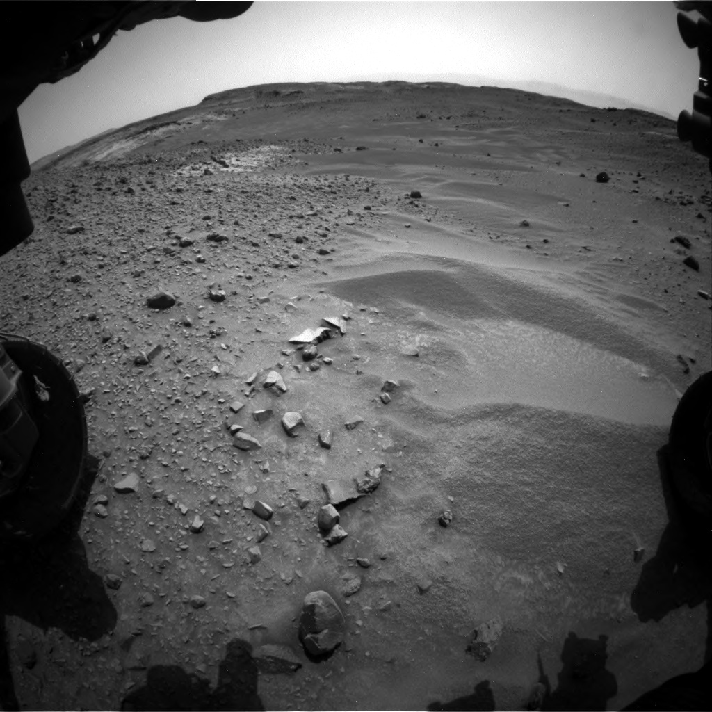 Nasa's Mars rover Curiosity acquired this image using its Front Hazard Avoidance Camera (Front Hazcam) on Sol 951, at drive 1672, site number 45