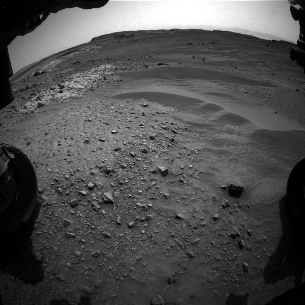 Nasa's Mars rover Curiosity acquired this image using its Front Hazard Avoidance Camera (Front Hazcam) on Sol 951, at drive 1696, site number 45