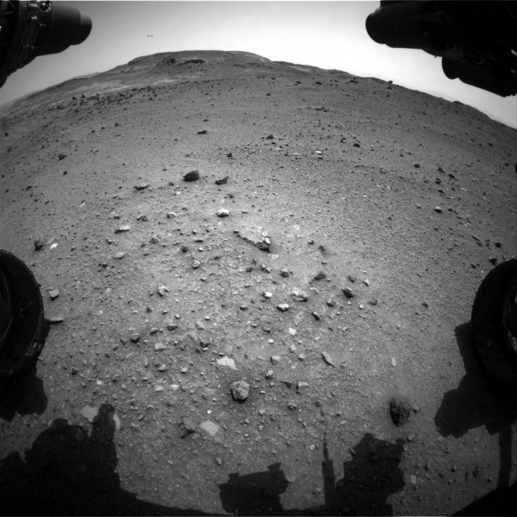 NASA's Mars rover Curiosity acquired this image using its Front Hazard Avoidance Cameras (Front Hazcams) on Sol 952