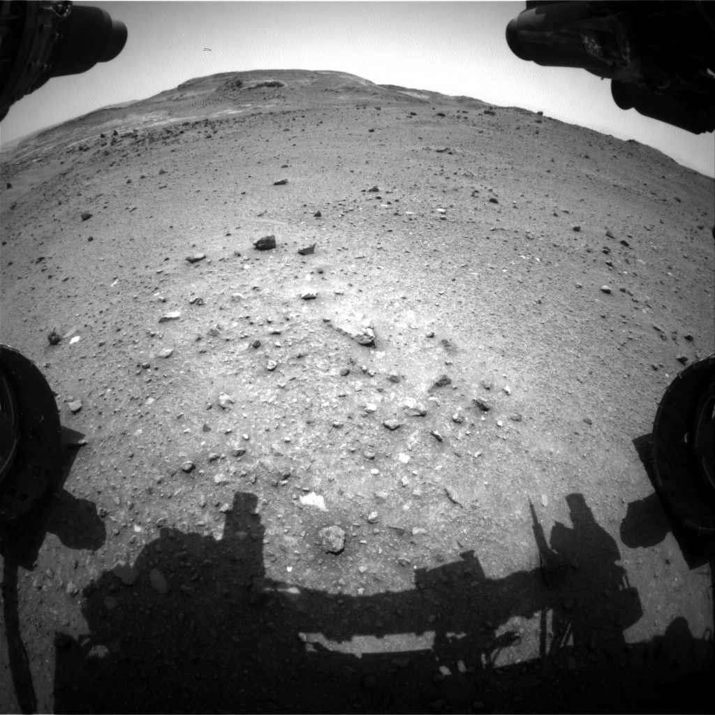 Nasa's Mars rover Curiosity acquired this image using its Front Hazard Avoidance Camera (Front Hazcam) on Sol 953, at drive 0, site number 46