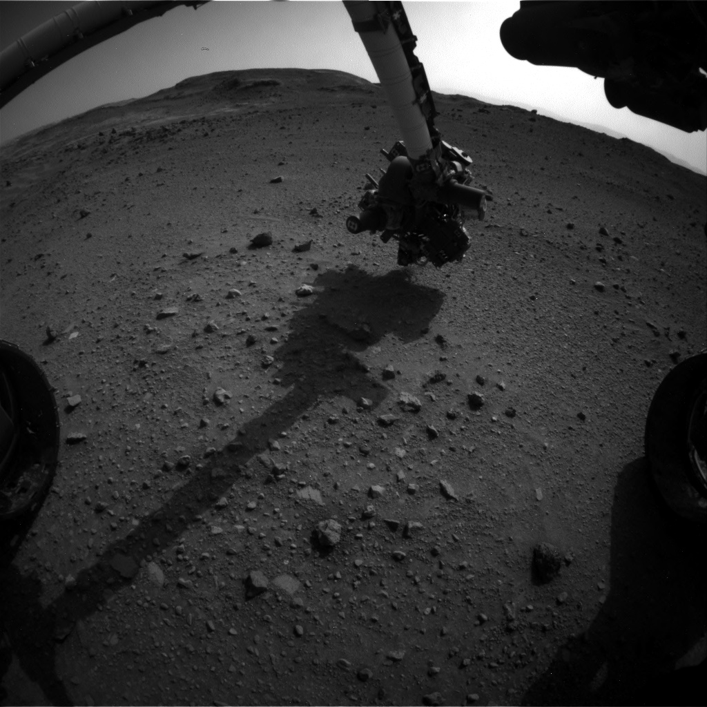 Nasa's Mars rover Curiosity acquired this image using its Front Hazard Avoidance Camera (Front Hazcam) on Sol 954, at drive 0, site number 46