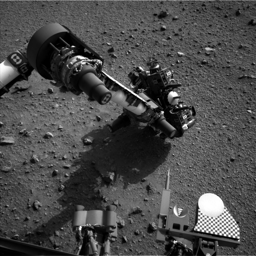 Nasa's Mars rover Curiosity acquired this image using its Left Navigation Camera on Sol 954, at drive 0, site number 46
