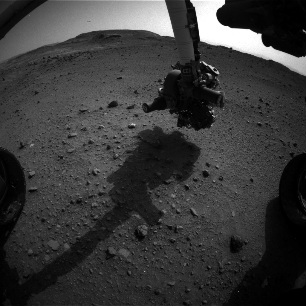 Nasa's Mars rover Curiosity acquired this image using its Front Hazard Avoidance Camera (Front Hazcam) on Sol 955, at drive 0, site number 46