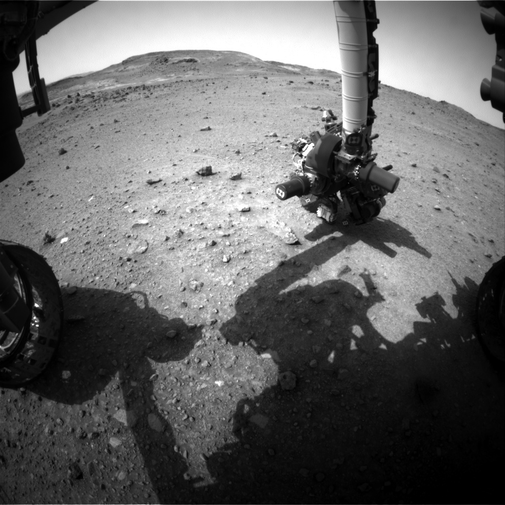 NASA's Mars rover Curiosity acquired this image using its Front Hazard Avoidance Cameras (Front Hazcams) on Sol 956