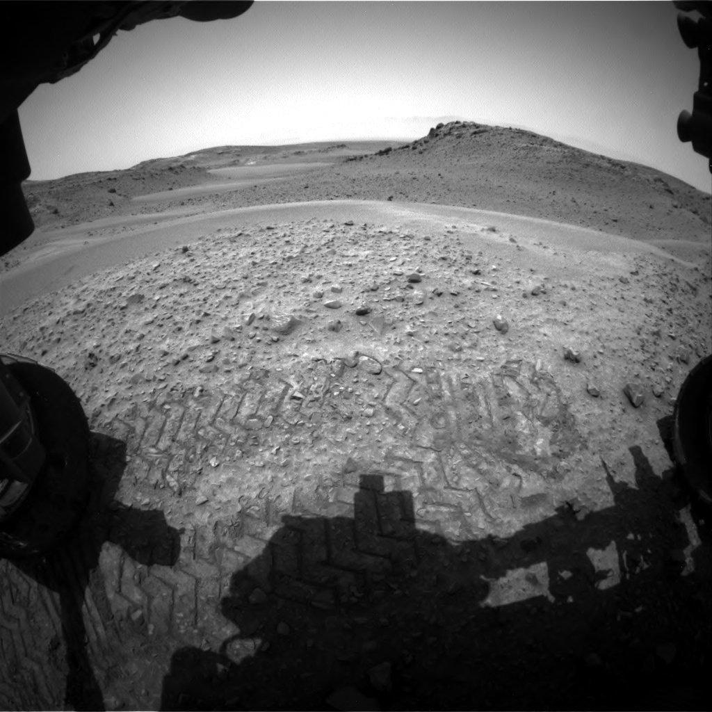Nasa's Mars rover Curiosity acquired this image using its Front Hazard Avoidance Camera (Front Hazcam) on Sol 956, at drive 472, site number 46