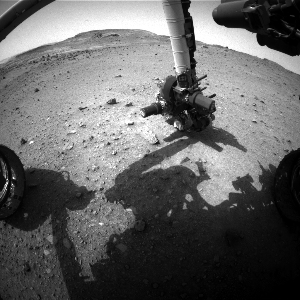 Nasa's Mars rover Curiosity acquired this image using its Front Hazard Avoidance Camera (Front Hazcam) on Sol 956, at drive 0, site number 46