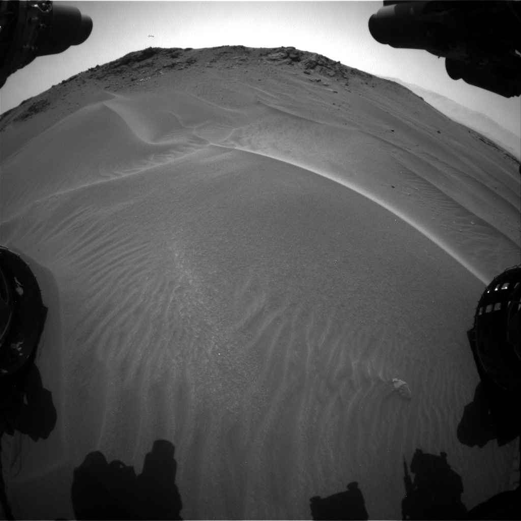 Nasa's Mars rover Curiosity acquired this image using its Front Hazard Avoidance Camera (Front Hazcam) on Sol 957, at drive 934, site number 46