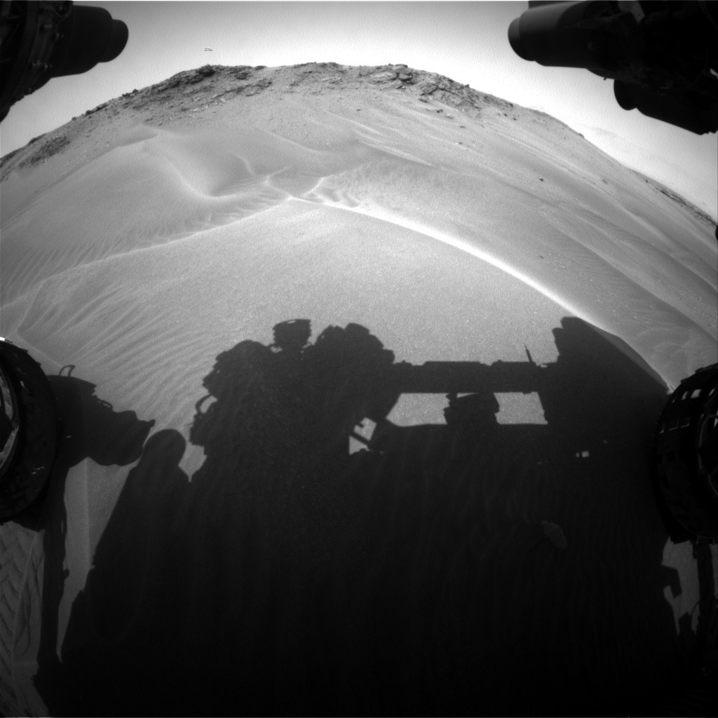 Nasa's Mars rover Curiosity acquired this image using its Front Hazard Avoidance Camera (Front Hazcam) on Sol 958, at drive 934, site number 46