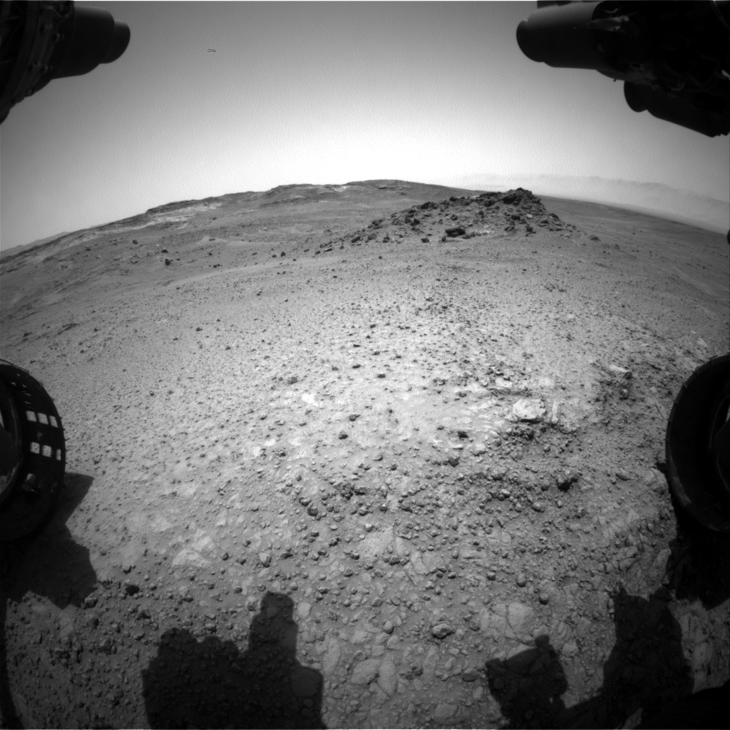 Nasa's Mars rover Curiosity acquired this image using its Front Hazard Avoidance Camera (Front Hazcam) on Sol 960, at drive 1162, site number 46