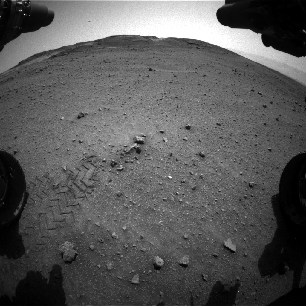 Nasa's Mars rover Curiosity acquired this image using its Front Hazard Avoidance Camera (Front Hazcam) on Sol 960, at drive 1676, site number 46