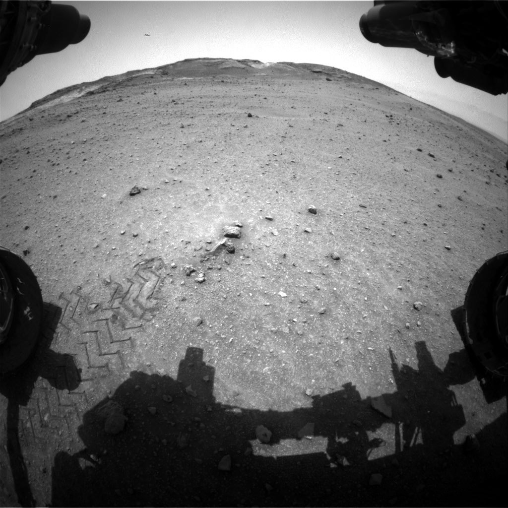 Nasa's Mars rover Curiosity acquired this image using its Front Hazard Avoidance Camera (Front Hazcam) on Sol 961, at drive 1676, site number 46