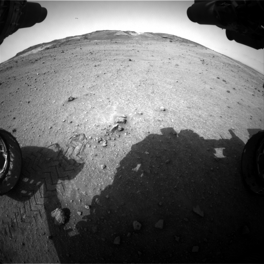Nasa's Mars rover Curiosity acquired this image using its Front Hazard Avoidance Camera (Front Hazcam) on Sol 962, at drive 1676, site number 46