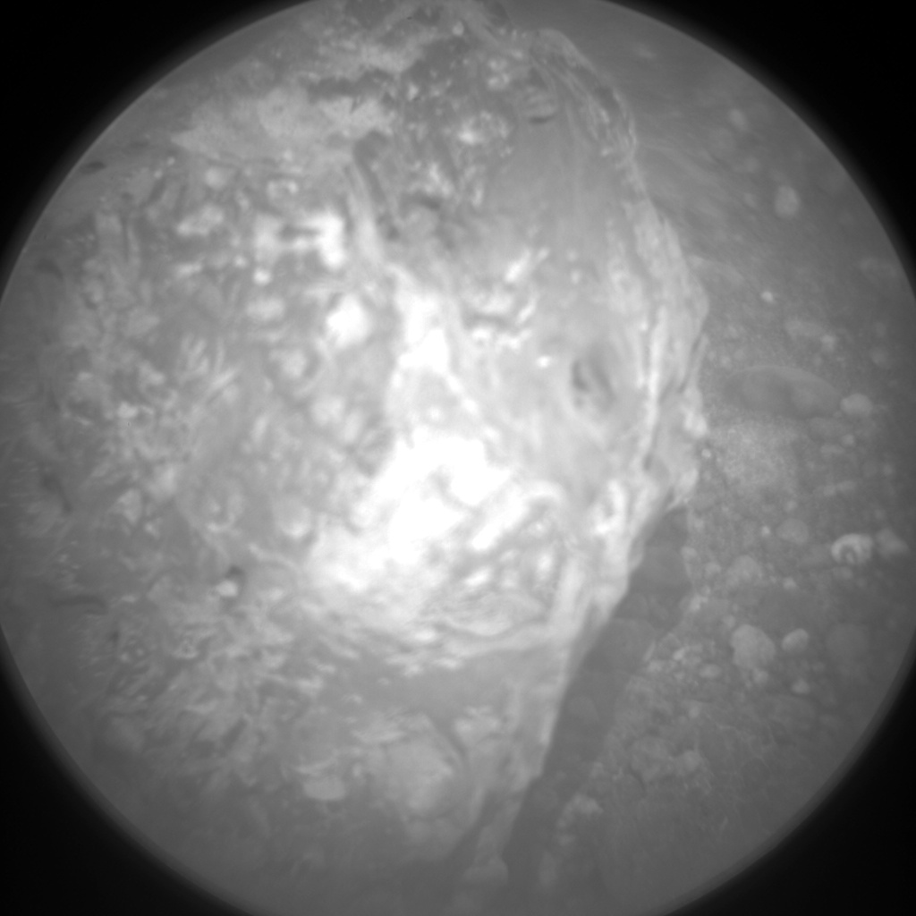 Nasa's Mars rover Curiosity acquired this image using its Chemistry & Camera (ChemCam) on Sol 963, at drive 1710, site number 46