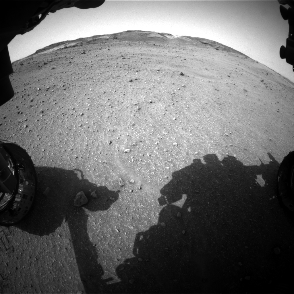 Nasa's Mars rover Curiosity acquired this image using its Front Hazard Avoidance Camera (Front Hazcam) on Sol 963, at drive 1710, site number 46