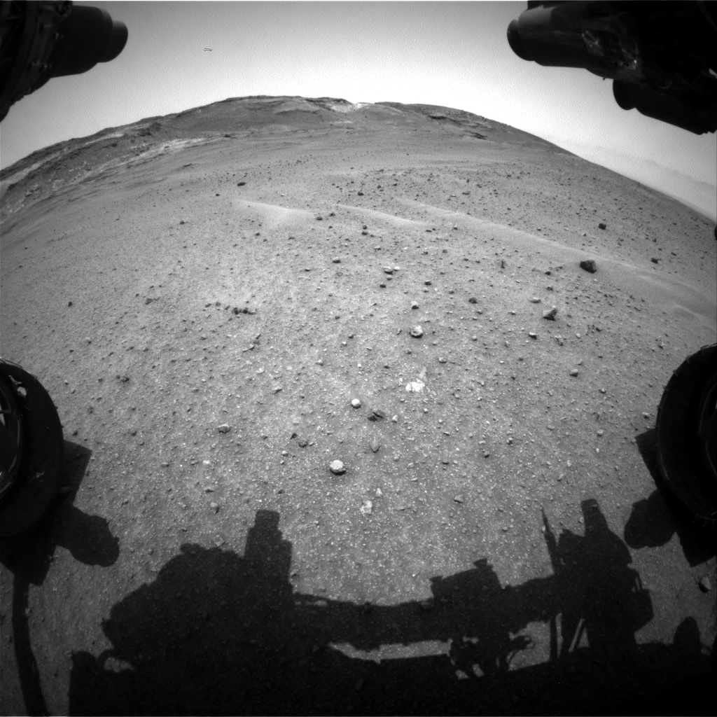 Nasa's Mars rover Curiosity acquired this image using its Front Hazard Avoidance Camera (Front Hazcam) on Sol 963, at drive 1812, site number 46