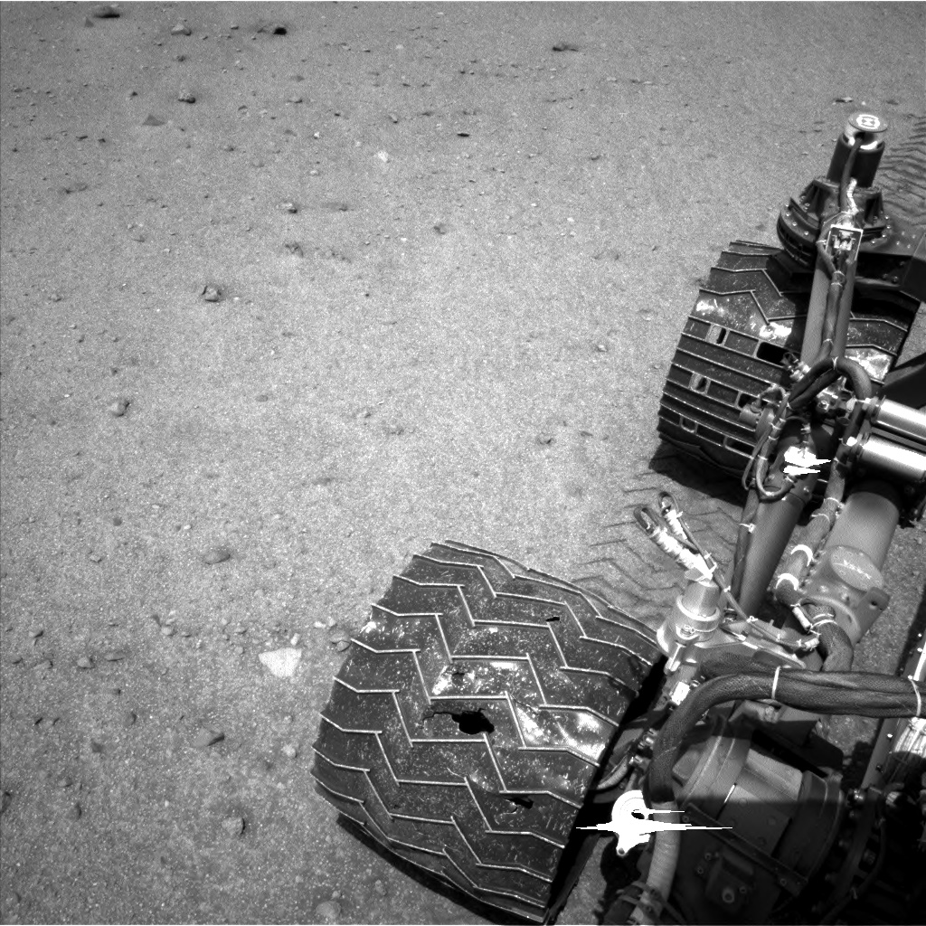 Nasa's Mars rover Curiosity acquired this image using its Left Navigation Camera on Sol 963, at drive 1812, site number 46
