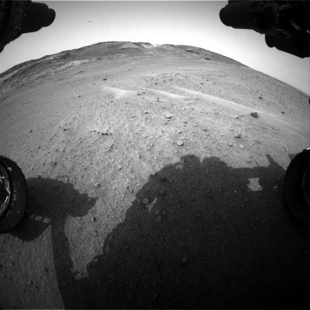 Nasa's Mars rover Curiosity acquired this image using its Front Hazard Avoidance Camera (Front Hazcam) on Sol 964, at drive 1812, site number 46