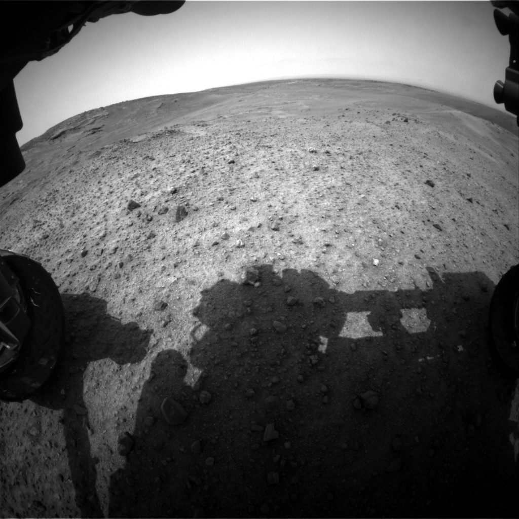 Nasa's Mars rover Curiosity acquired this image using its Front Hazard Avoidance Camera (Front Hazcam) on Sol 965, at drive 0, site number 47