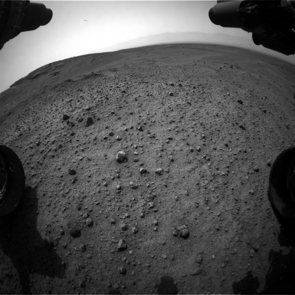 Nasa's Mars rover Curiosity acquired this image using its Front Hazard Avoidance Camera (Front Hazcam) on Sol 966, at drive 0, site number 47
