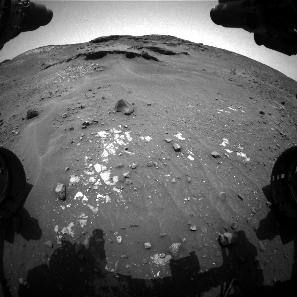 Nasa's Mars rover Curiosity acquired this image using its Front Hazard Avoidance Camera (Front Hazcam) on Sol 967, at drive 522, site number 47