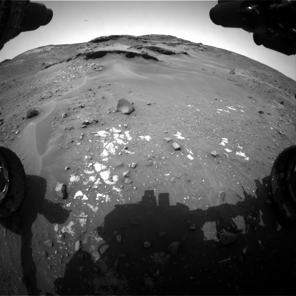 Nasa's Mars rover Curiosity acquired this image using its Front Hazard Avoidance Camera (Front Hazcam) on Sol 968, at drive 522, site number 47