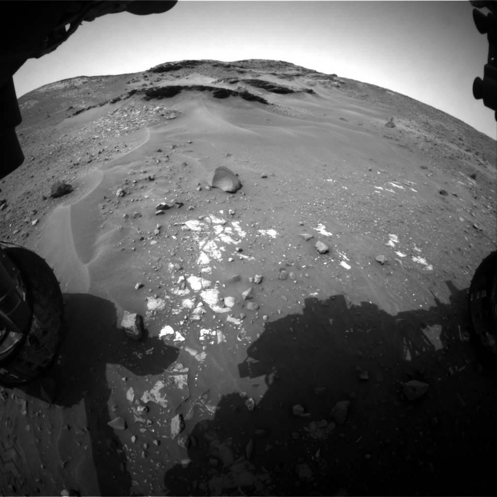 Nasa's Mars rover Curiosity acquired this image using its Front Hazard Avoidance Camera (Front Hazcam) on Sol 969, at drive 522, site number 47