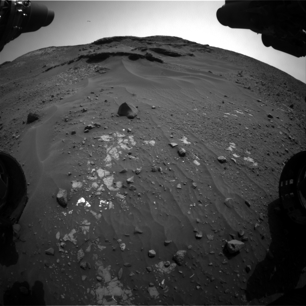 Nasa's Mars rover Curiosity acquired this image using its Front Hazard Avoidance Camera (Front Hazcam) on Sol 970, at drive 522, site number 47