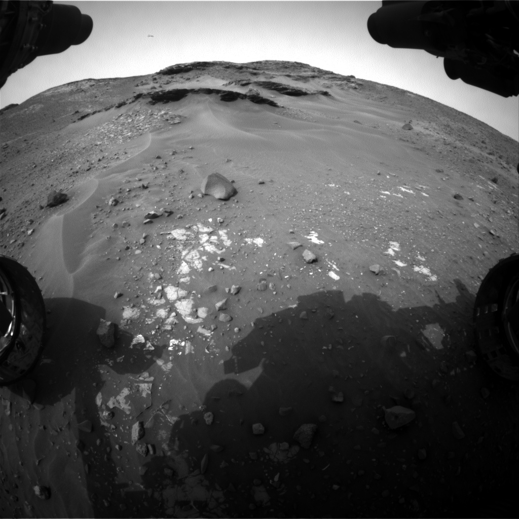 Nasa's Mars rover Curiosity acquired this image using its Front Hazard Avoidance Camera (Front Hazcam) on Sol 971, at drive 522, site number 47