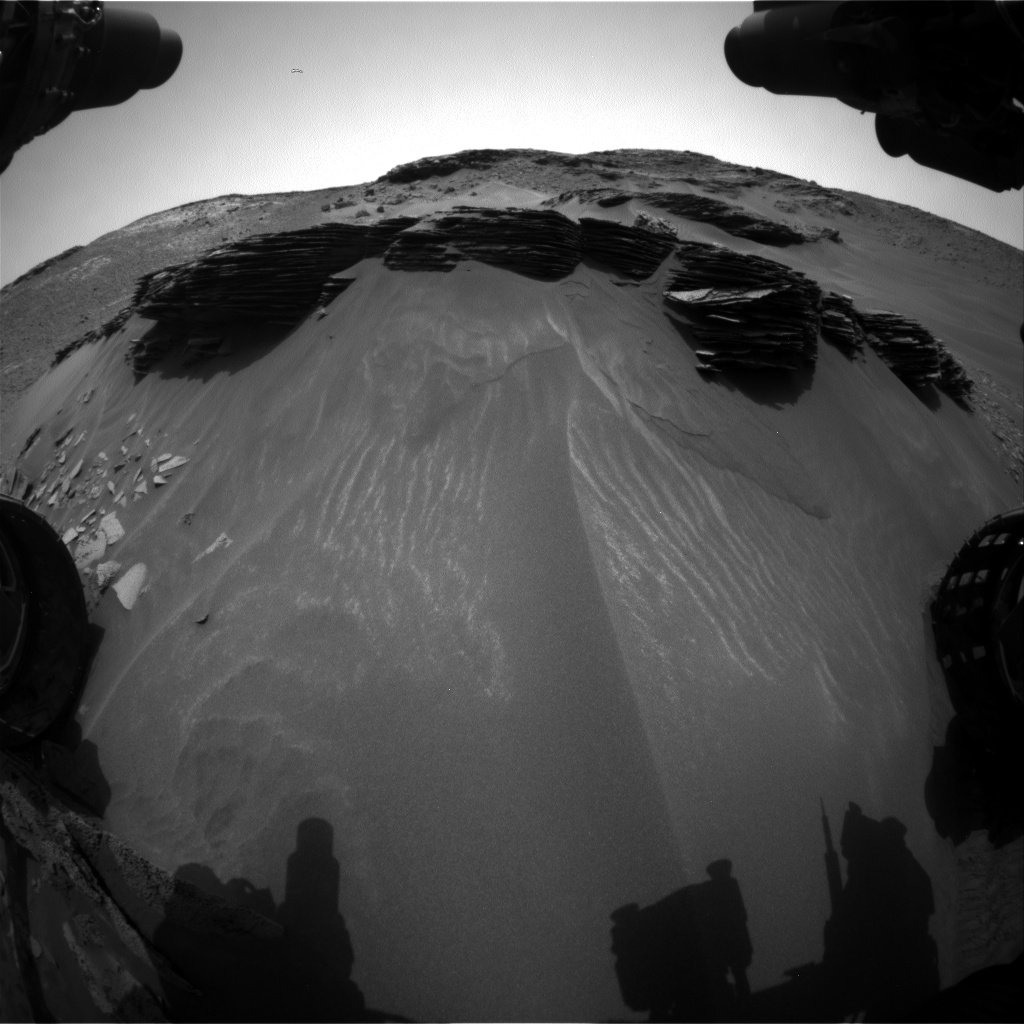 Nasa's Mars rover Curiosity acquired this image using its Front Hazard Avoidance Camera (Front Hazcam) on Sol 971, at drive 598, site number 47