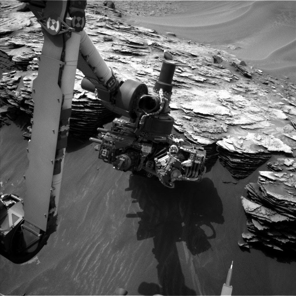 Nasa's Mars rover Curiosity acquired this image using its Left Navigation Camera on Sol 974, at drive 598, site number 47