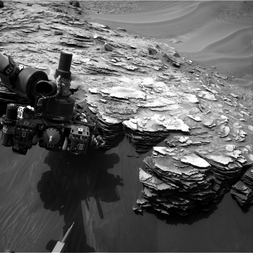 Nasa's Mars rover Curiosity acquired this image using its Right Navigation Camera on Sol 974, at drive 598, site number 47