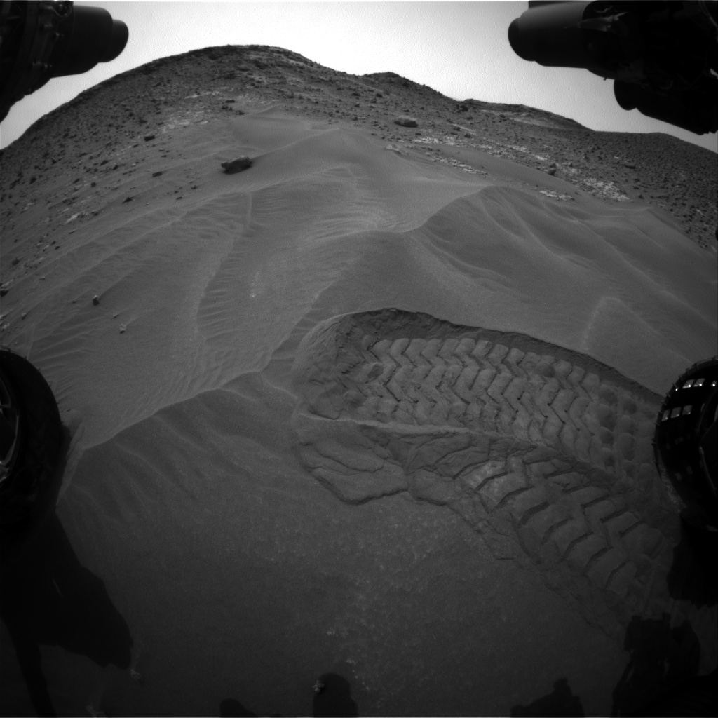 Nasa's Mars rover Curiosity acquired this image using its Front Hazard Avoidance Camera (Front Hazcam) on Sol 977, at drive 1166, site number 47