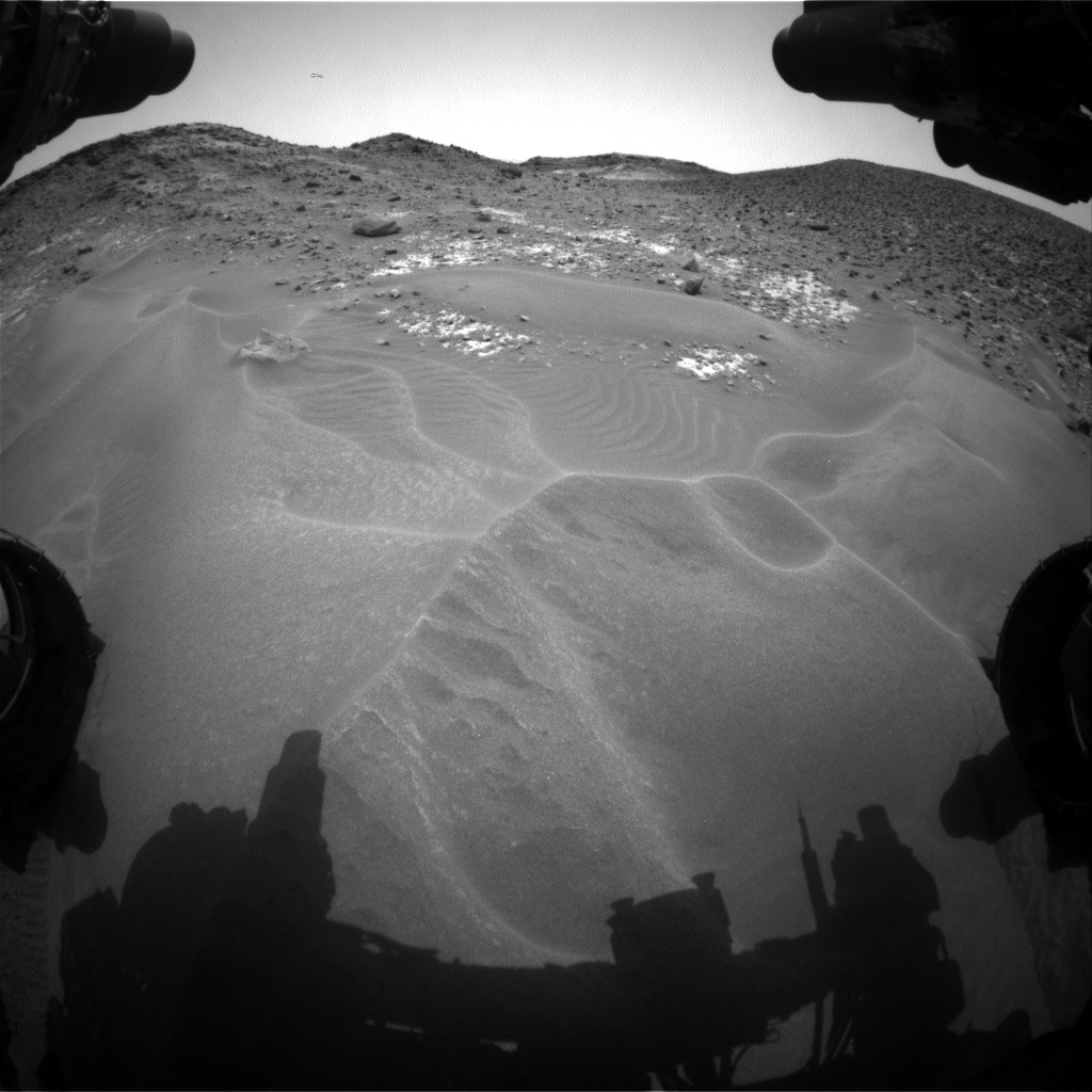 Nasa's Mars rover Curiosity acquired this image using its Front Hazard Avoidance Camera (Front Hazcam) on Sol 978, at drive 1202, site number 47