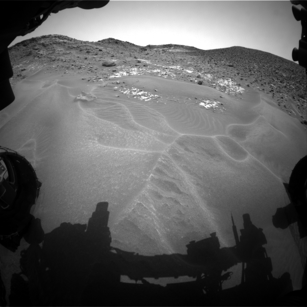 Nasa's Mars rover Curiosity acquired this image using its Front Hazard Avoidance Camera (Front Hazcam) on Sol 979, at drive 1202, site number 47