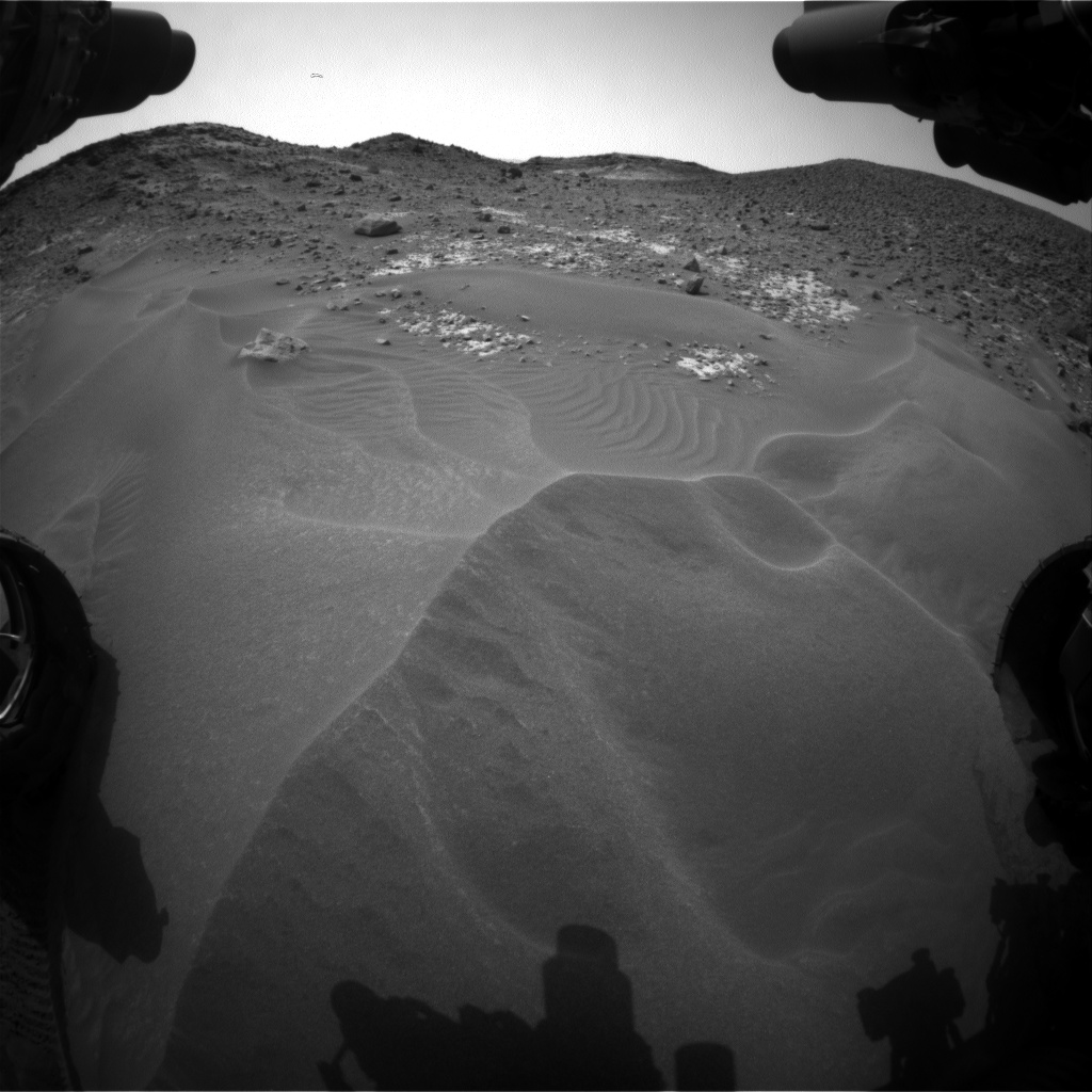 Nasa's Mars rover Curiosity acquired this image using its Front Hazard Avoidance Camera (Front Hazcam) on Sol 980, at drive 1202, site number 47