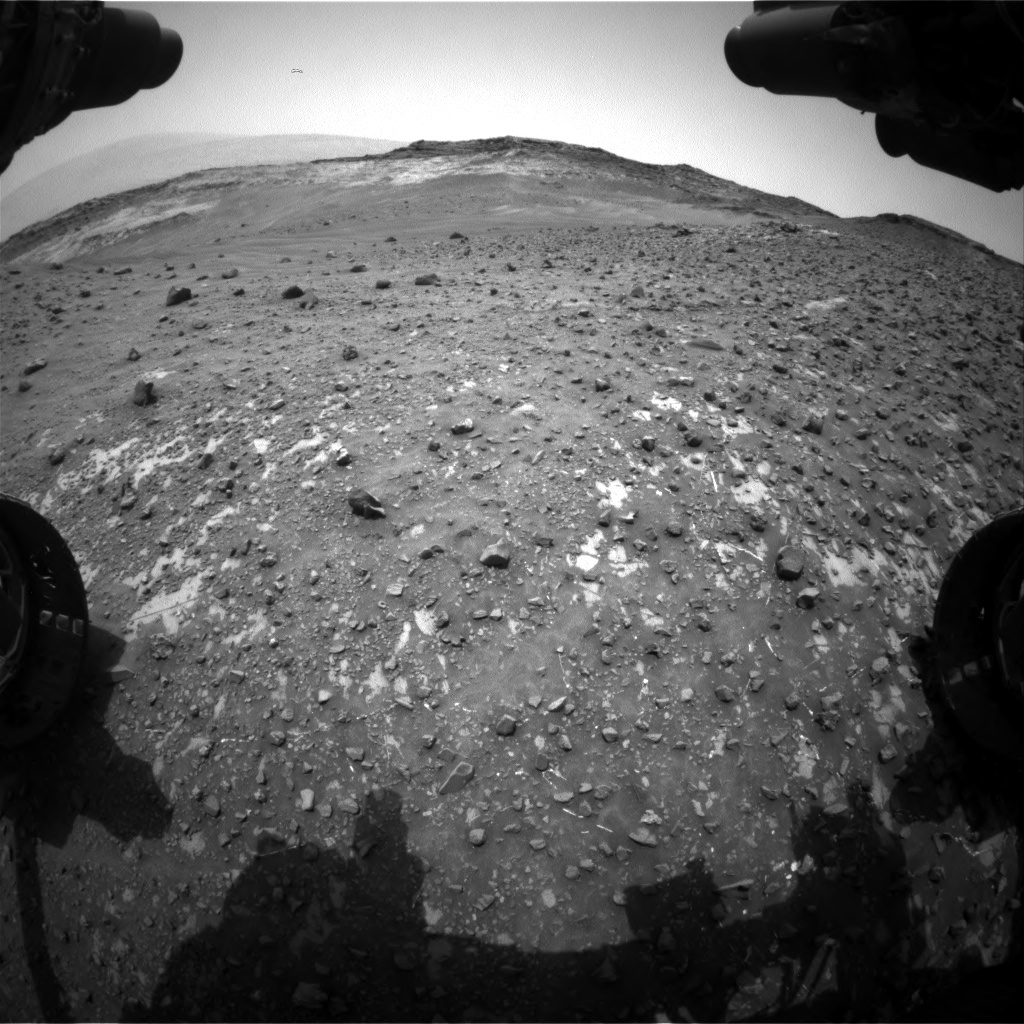 Nasa's Mars rover Curiosity acquired this image using its Front Hazard Avoidance Camera (Front Hazcam) on Sol 981, at drive 1452, site number 47