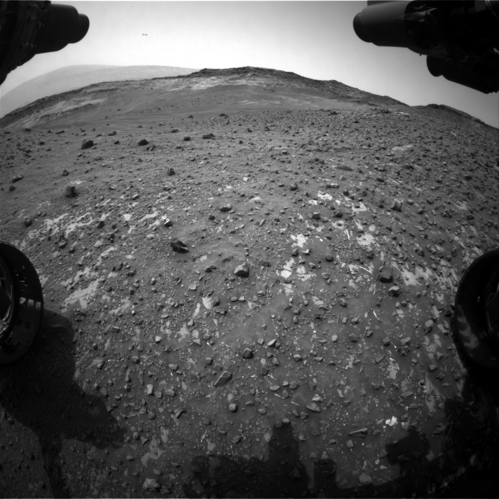 NASA's Mars rover Curiosity acquired this image using its Front Hazard Avoidance Cameras (Front Hazcams) on Sol 982